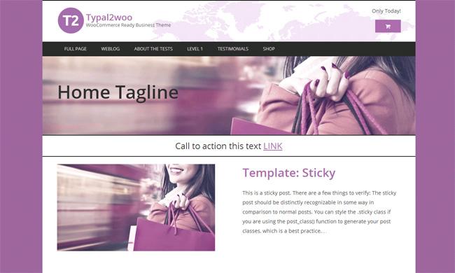 Typal2woo Free WordPress Theme