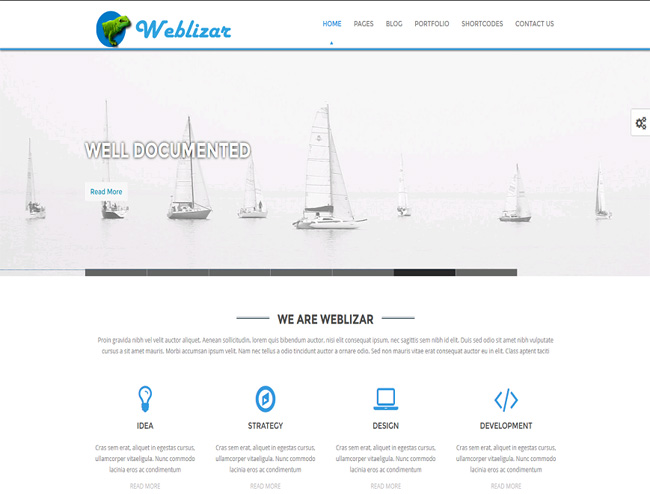 Weblizar lite Free WordPress Theme