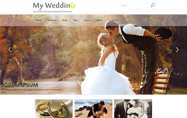 Weddings Free WordPress Theme