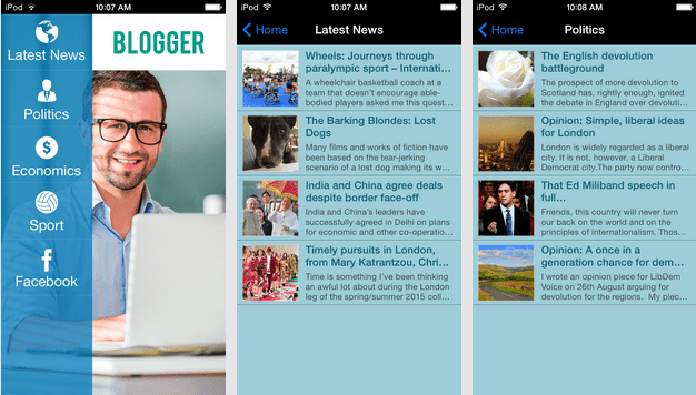 Blogger Mobile App Template