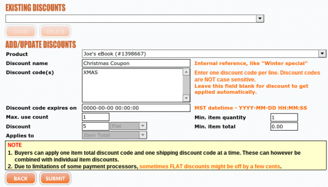 Create Discounts and Coupons