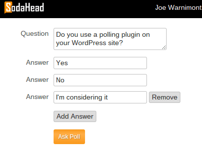 Creating a New Poll