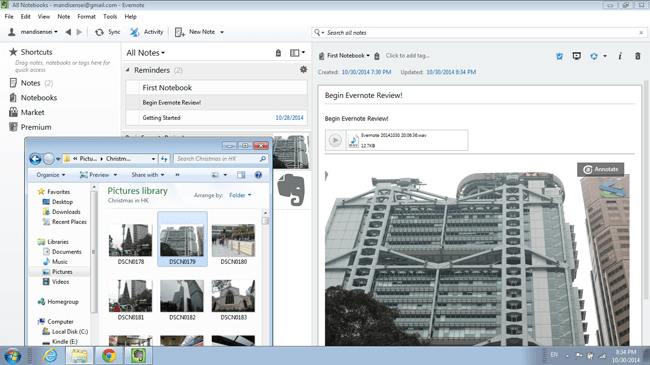 Adding Evernote Images