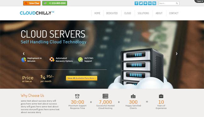 CloudChilly V2 WordPress Theme
