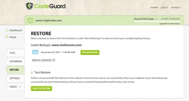 Restoring Your Website Using CodeGuard