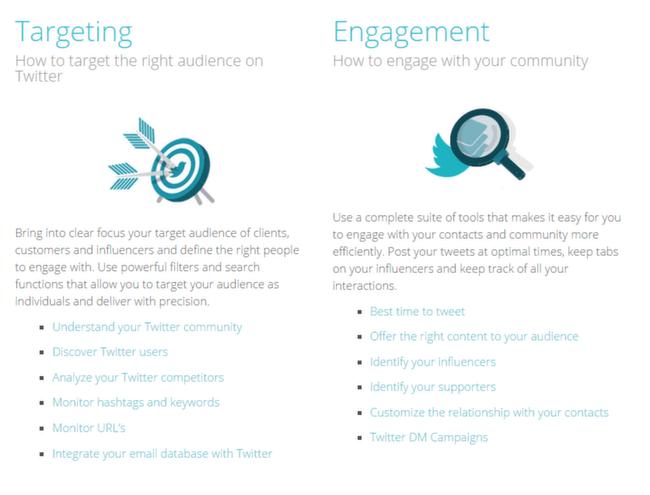 SocialBro: Features