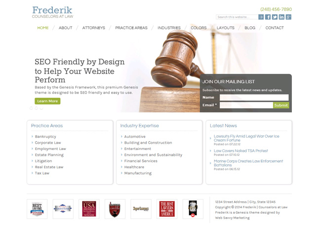 Frederik Premium WordPress Theme