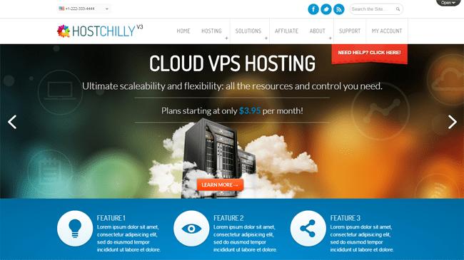 HostChilly V3 WordPress Theme