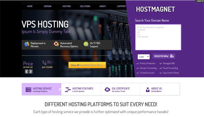 Hostmagnet WordPress Theme