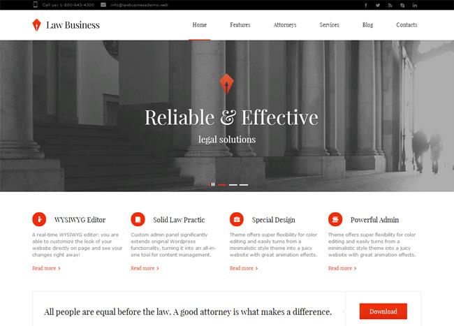Law Business Premium WordPress Theme