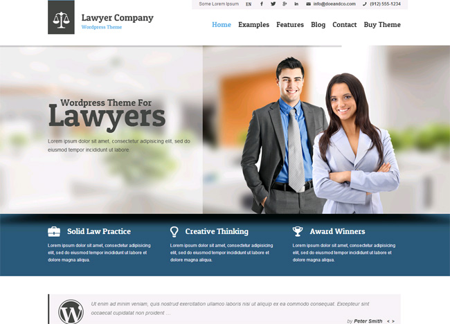 Lawyer Premium WordPress Theme
