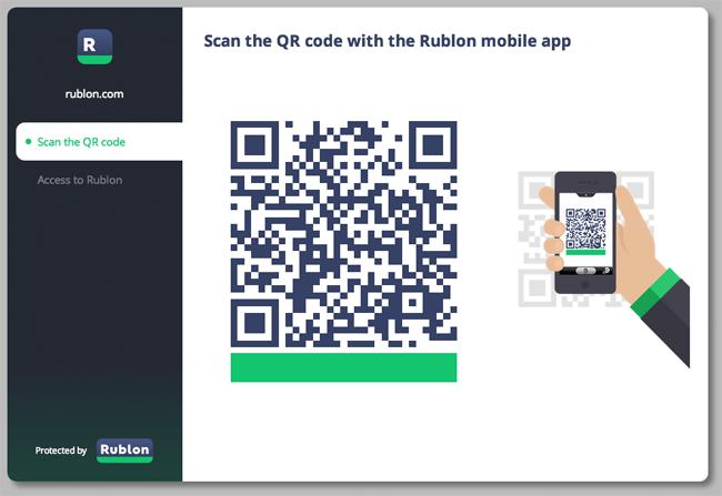 Rublon User Panel