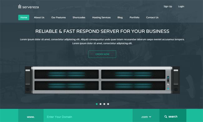 Servereza WordPress Theme