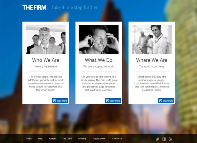 The Firm Premium WordPress Theme