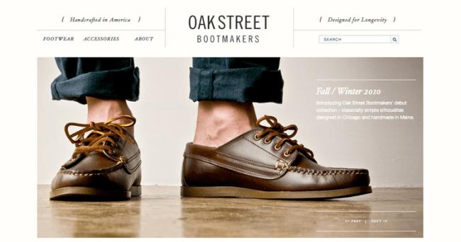 OakStreet Bootmakers ECommerce