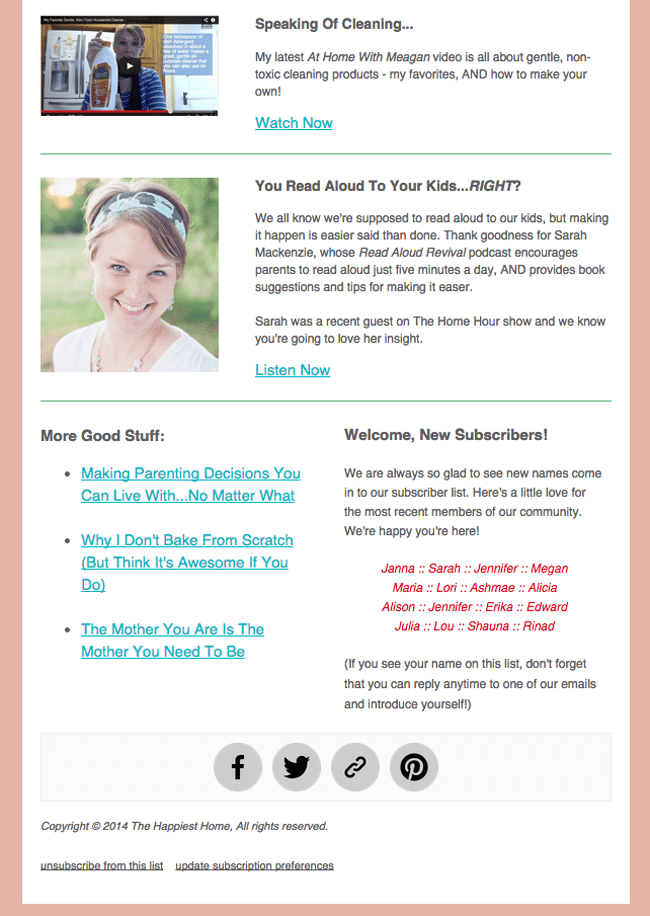 The Happiest Home Newsletter