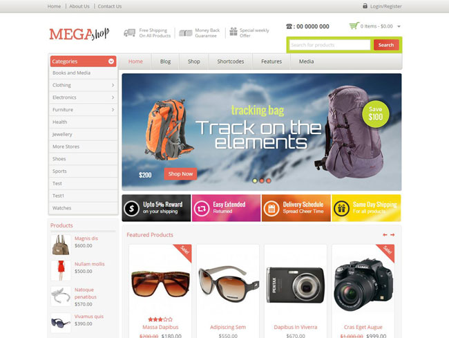Mega Shop WordPress Theme