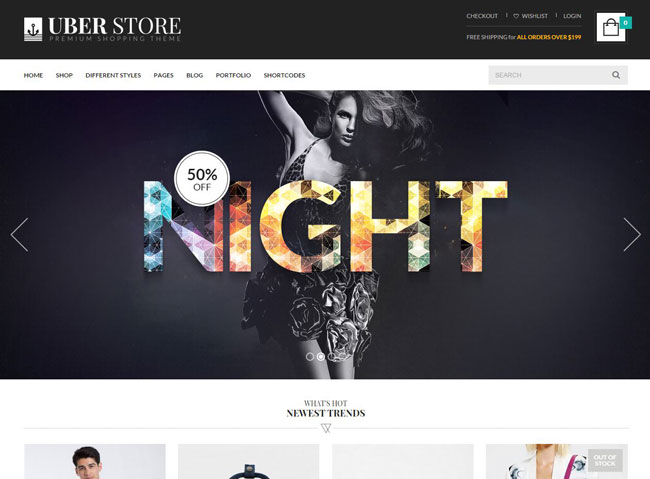 UberStore WordPress Theme