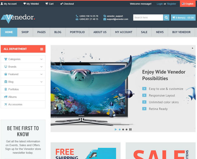 Venedor WordPress Theme