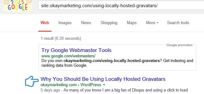 google verify url indexed