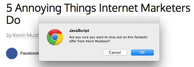 Javascript Pop Up Message