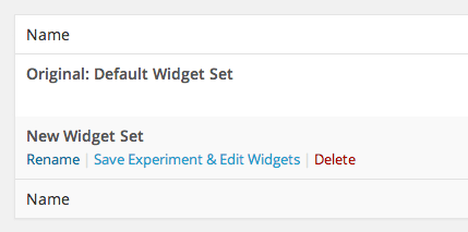 Add Widget Experiment