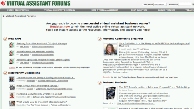 Virtual Assistant Forums