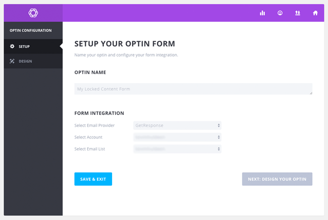 Setup a New Opt-In Form