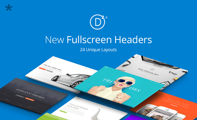 New Fullscreen Header Module