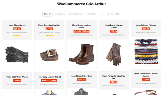 WooCommerce Product Grid