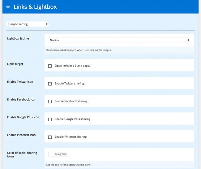 Links and Lightbox