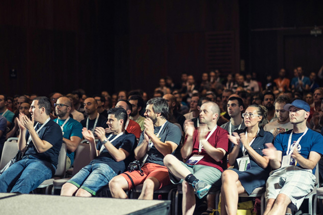 Front of WordCamp Europe Talk