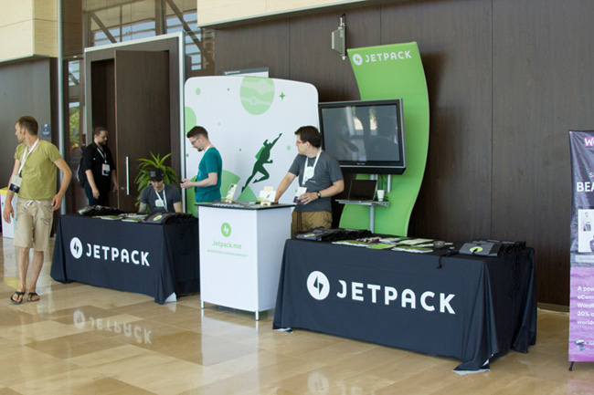 Jetpack Booth at WordCamp Europe