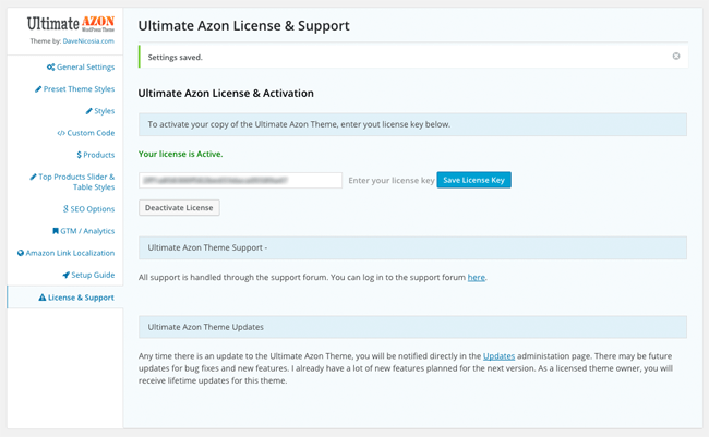 License and Support