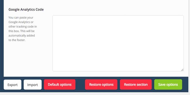 Cherry Framework Footer Buttons