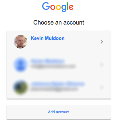 Choose Your Account