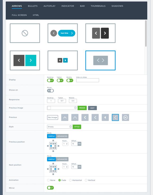 Smart Slider Pro Styling Settings