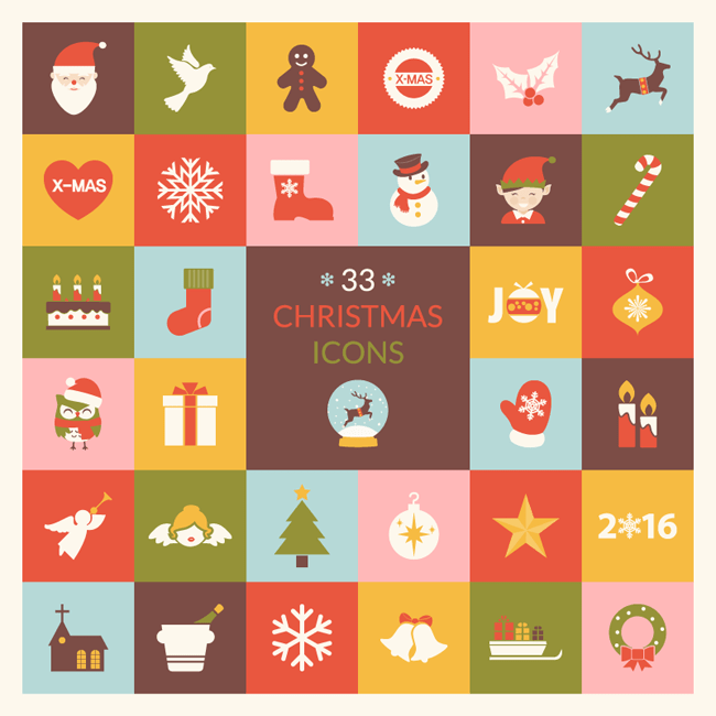 Christmas Icon Pack Vector Set