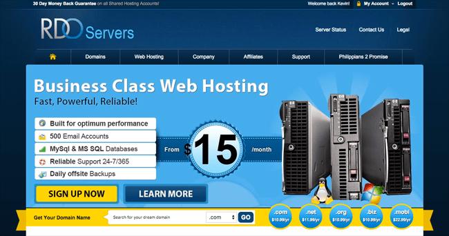 RDO Servers Home Page