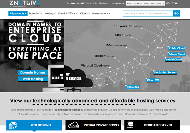 ZNetLive Home Page