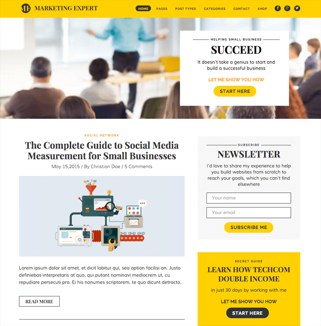 9 Good Blogging WordPress Themes -