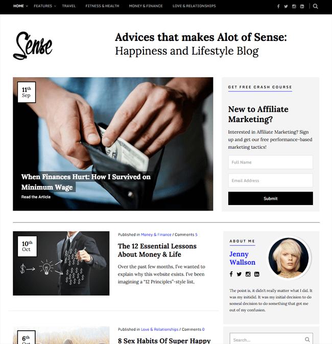 Sense WordPress Theme