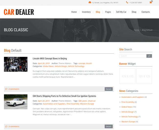 Car Dealer Blog Index