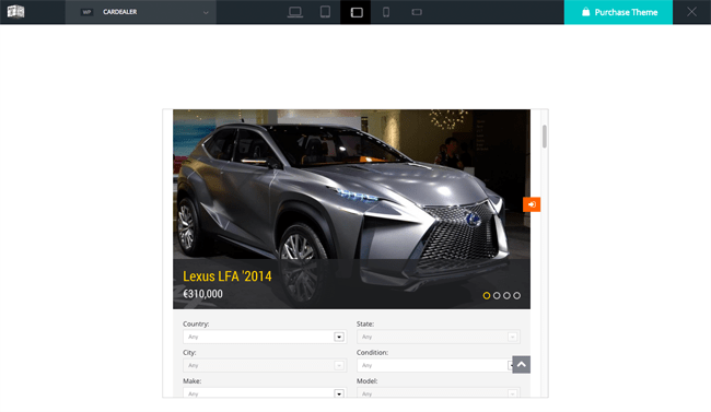 Responsive Demo of Car Dealer