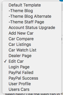 Car Dealer Page Template List