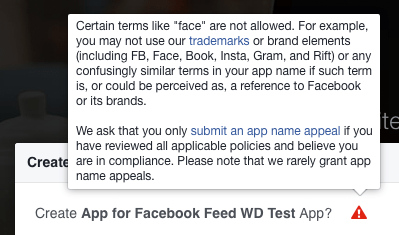 Facebook Trademark