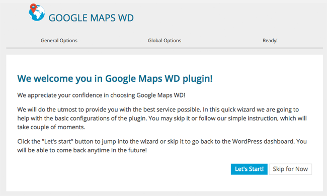 Setting Up Google Maps WD
