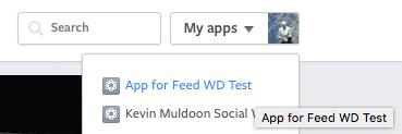 Select Facebook App