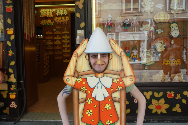 James as Pinocchio