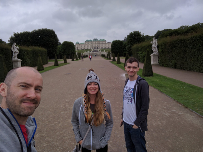 Selfie Outside the Belvedere